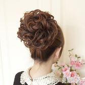 丸子頭假髮卷花苞頭髮鬢FSHOW卷髮包頭花新娘盤頭蓬松假髮包CC1752『美好時光』