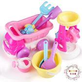 交換禮物-兒童沙灘工程車大號寶寶玩沙子挖沙漏鏟子工具決明子女孩戲水玩具 XW