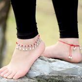 小巧良織鈴鐺腳鍊女純銀鈴鐺跳舞專用有聲音轉運珠紅繩
