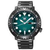 【僾瑪精品】SEIKO 精工 5號 罐頭造型機械錶-黑x綠/45mm/4R36-06N0SD(SRPC65J1)