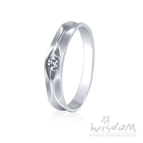 威世登 對等-K金鑽石戒指-男戒 婚戒推薦 情人節禮物 DA03089B-BCGXX