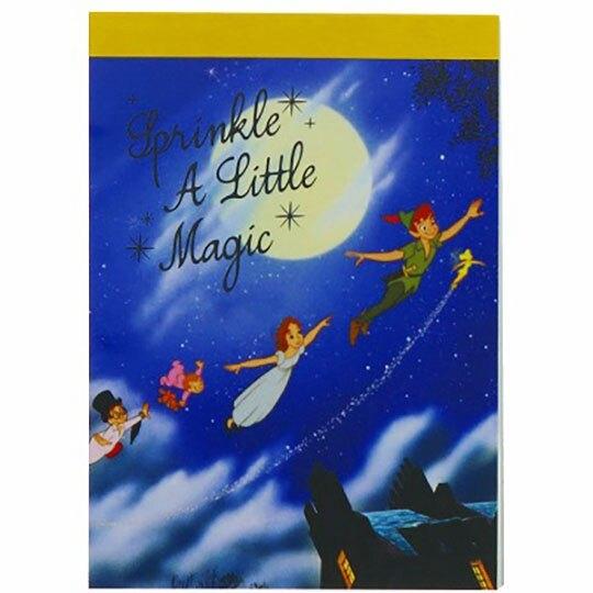 小禮堂 迪士尼 奇妙仙子 日製 迷你便條本 便條紙 備忘錄 (深藍 夜空) 4901770-63195