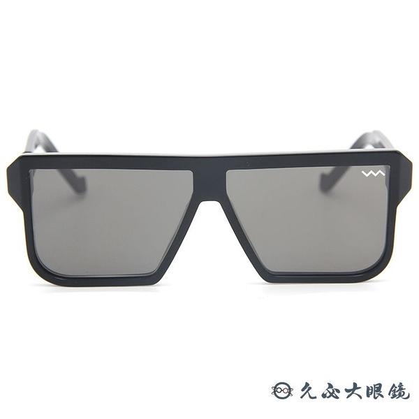VAVA 墨鏡 WL0003 (黑) 鋁 復古 方框 亞洲版鼻墊 太陽眼鏡 久必大眼鏡