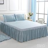 床裙單件歐式床罩純色素色公主花邊蕾絲席夢思床套xy3164【優品良鋪】