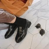 英倫皮鞋 英倫風女鞋黑色小皮鞋女生秋季潮百搭正韓學院風軟妹圓頭單鞋【星時代女王】
