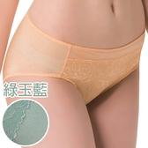 思薇爾-花盈系列M-XXL蕾絲中腰三角內褲(綠玉藍)