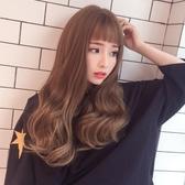限定款假髮 韓系二次元眉上瀏海微捲中長假髮女長捲髮大波浪蓬鬆自然髮套