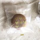 95入 金色愛心半透明 磨砂餅乾袋 需用...