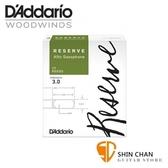 美國 RICO RESERVE 中音 薩克斯風竹片 3號 Alto Sax (10片/盒)   【D'Addario/DAddario】