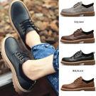 仿舊圓頭耐磨大頭鞋/皮鞋/馬丁靴 4色 ...