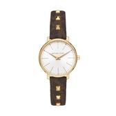 MICHAEL KORS鉚釘LOGO皮帶腕錶MK2871