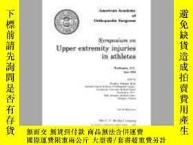 二手書博民逛書店Symposium罕見on Upper Extremity Injuries in Athletes: Washi