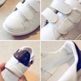 兒童小白鞋男童鞋中大童板鞋秋季新款白色女童運動鞋小白鞋女