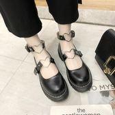 娃娃鞋 復古森女系圓頭鬆糕厚底單鞋春夏學院風日系包頭小皮鞋子 果實時尚