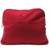 HERMES 愛馬仕 Bolide Pouch 紅色棉質帆布化妝包 【二手名牌BRAND OFF】