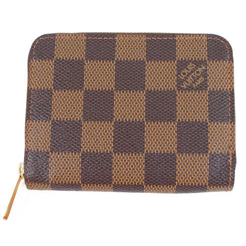 茱麗葉精品 全新名牌 Louis Vuitton LV N63070 棋盤格紋信用卡拉鍊零錢包-現貨