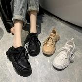 黑色老爹鞋女2020新款百搭韓版ulzzang原宿透氣增高顯瘦運動鞋春