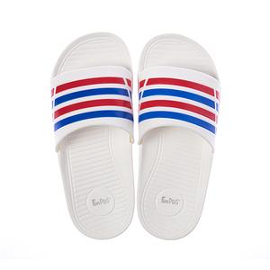 93005潮流雙色帶童拖鞋-白18