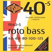小叮噹的店 英國ROTOSOUND RB40-5 (40-125) 鎳弦 五弦電貝斯弦 旋弦公司貨