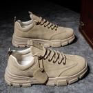 皮鞋 男鞋冬季2021新款男士加絨保暖棉鞋百搭休閒皮鞋工裝潮鞋工作板鞋【快速出貨八折下殺】