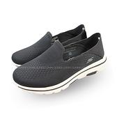 (B1) (送贈品) SKECHERS 休閒鞋 Go Walk 5-Jetter 男鞋 健走 套入式 瑜珈鞋墊 透氣 黑 55523BKW [陽光樂活]