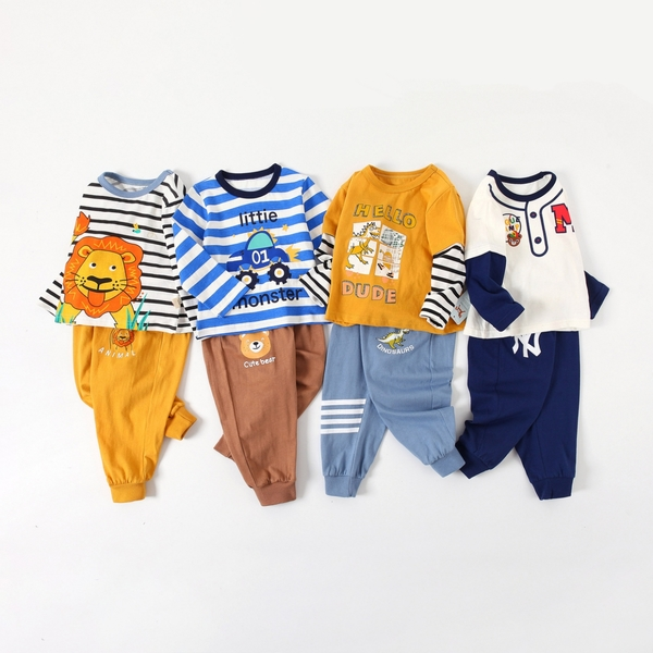 中小童長袖套裝 棉質嬰兒內衣套裝 家居休閒套裝 童裝 ZS10906 好娃娃