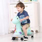 兒童搖搖馬木馬塑料兩用帶音樂大號嬰兒玩具1-3歲滑行車寶寶搖馬【狂歡萬聖節】