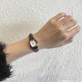 ins手錶女chic簡約韓版復古文藝vintage學院風小錶盤防水皮帶女錶