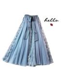 星空裙 星空藍重工紗裙半身裙秋冬女冬天配毛衣遮胯裙子粉色顯瘦洋氣 芊墨