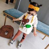 女童衛衣 女童衛衣2018新款韓版洋氣潮秋童裝中長款百搭兒童打底衫上衣連帽 霓裳細軟
