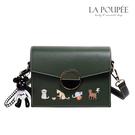 側背包 時尚圓扣貓咪刺繡方包 4色-La Poupee樂芙比質感包飾 (現貨+預購)