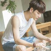 純棉夏季青少年坎肩男生運動韓版修身型打底寬鬆背心潮流無袖T恤 遇見生活