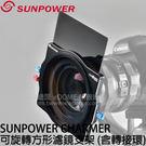 SUNPOWER CHARMER 100mm 可旋轉方形濾鏡支架 附轉接環 (湧蓮國際公司貨)