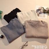 v領T恤 毛衣女2021秋冬新款百搭修身v領打底針織衫洋氣內搭長袖緊身上衣 曼慕