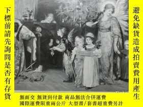 二手書博民逛書店【罕見】1890年木刻版畫《孩子們的聖誕願望》(Des Kind