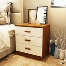 歐式床頭櫃簡約現代白色烤漆韓式床邊櫃特價簡易儲物櫃實木二斗櫃QM 依凡卡時尚