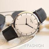 韓國時尚潮流手錶男簡約情侶手錶女學生韓版休閒復古皮帶石英腕錶 Ifashion