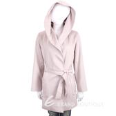 Max Mara 粉色綁帶連帽駱駝絨混紡羊毛大衣 1920875-05