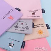 學生手提袋 多層手提檔袋學生韓版小清醒手提資料冊A4收納袋帆布試捲檔袋 新品
