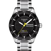 TISSOT 天梭 PRS516 系列時尚機械手錶-黑/42mm T1004301105100