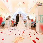 仿真玫瑰花瓣結婚錶白裝飾情人節求婚男女制造浪漫布置假花瓣雨