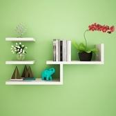 隔板客廳壁挂 擱板牆上置物架子臥室 簡約背景裝飾牆壁書架