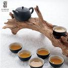 陸寶【旋轉壺茶組 】禪風黑/禪風白 一壺...