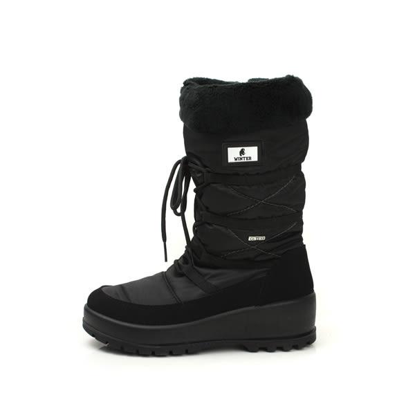 Grünland  靴子 雪靴 內鋪毛 保暖 黑色 女鞋 DO0240 no005