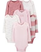 【美國Carter's】長袖純棉包屁衣6件組 - 粉紅小公主 #1I720810