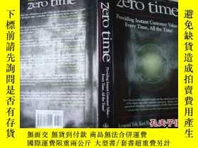 二手書博民逛書店英文原版罕見Zero Time: Providing Insta
