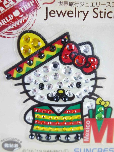 【震撼精品百貨】Hello Kitty 凱蒂貓~KITTY鑽貼紙-地球村系列-墨西哥仙人掌