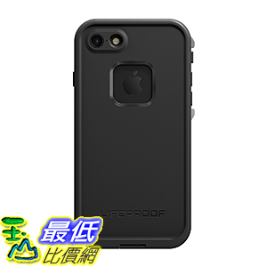 [106美國直購] Lifeproof FRĒ SERIES (防水手機殼) for iPhone 7(ONLY)-Retail Packaging-ASPHALT (BLACK/DARK GREY)