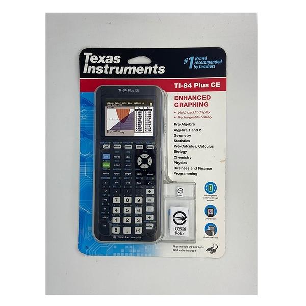 [商檢認證D35986] Texas Instruments TI-84 Plus CE Calculator 計算機 一年保固 (商檢局規定不能附變壓器)