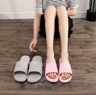 Qmishop 馬卡龍男女情侶室內外居家拖鞋【J432】